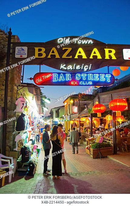 Gate to old town bazaar, Kusadasi, Turkey, Asia Minor