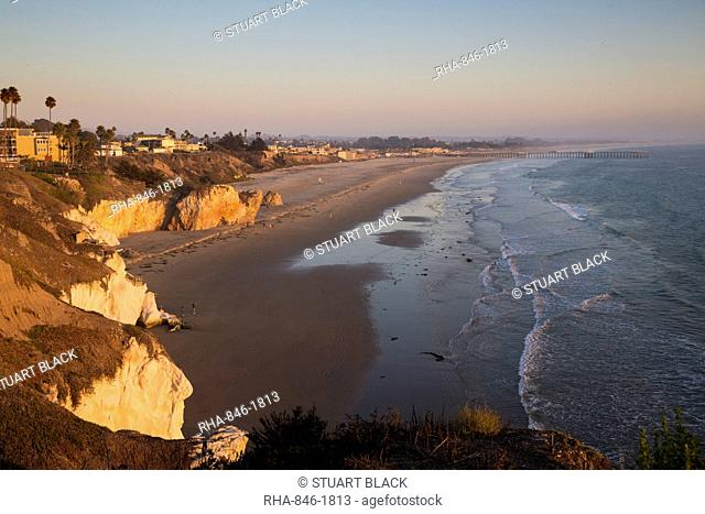 Beach at sunset, Pismo Beach, San Luis Obispo County, California, United States of America, North America