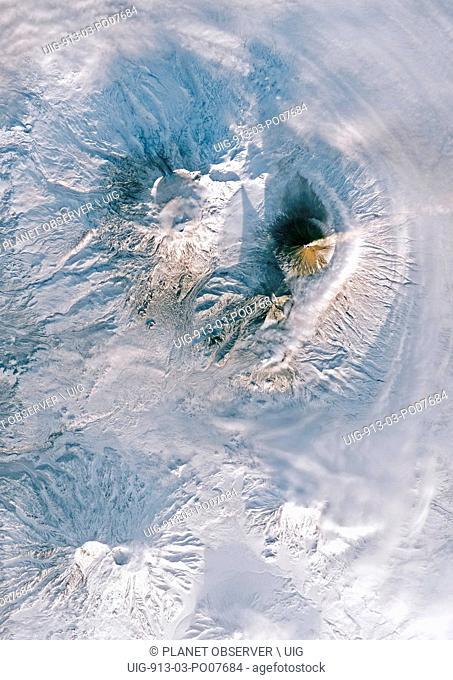 Volcanoes on Kamchatka Peninsula, Russia
