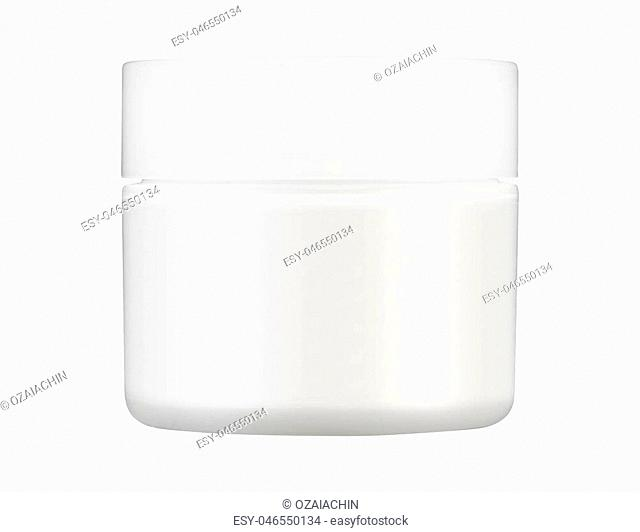 White Matte Glass Doublewall Jar With Plastic Lid