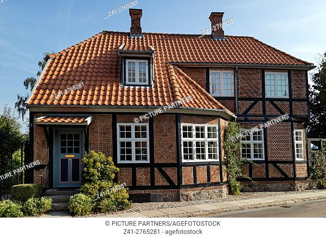 Traditional built house in the city of Faaborg, Denmark