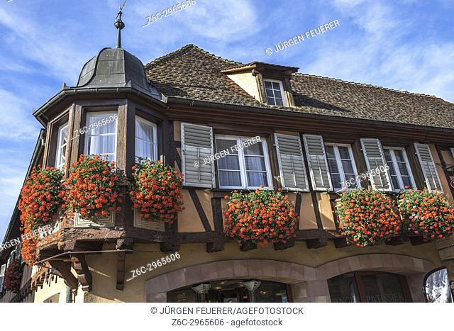 village Andlau, foothills of the Vosges Mountains, on the Wine Route of Alsace, France