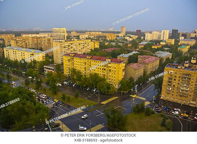 Alexeyevsky District, elevated view, Moscow, Russia