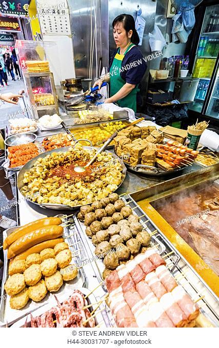 China, Hong Kong, Mong Kok, Street Food