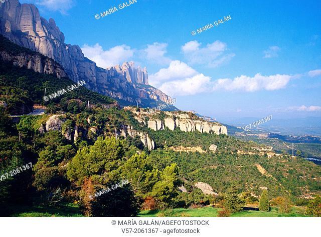 Landscape. Montaña de Montserrat Nature Reserve, Barcelona province, Catalonia, Spain