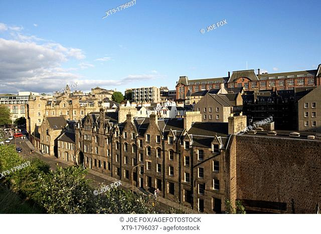 looking over the old town of edinburgh scotland uk united kingdom