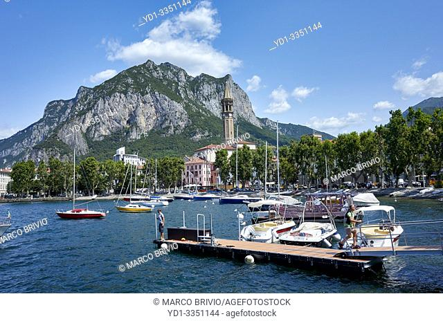 Lecco lies at the end of the south-eastern branch of Lake Como (the branch named Lake of Lecco / Lago di Lecco). Lombardy, Italy