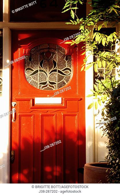 red door, London, England