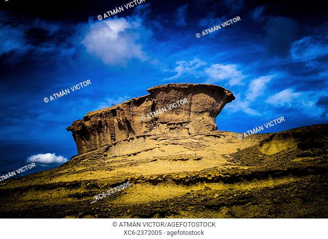 desert landscape of San Blas. South Tenerife island. Canary islands .Spain