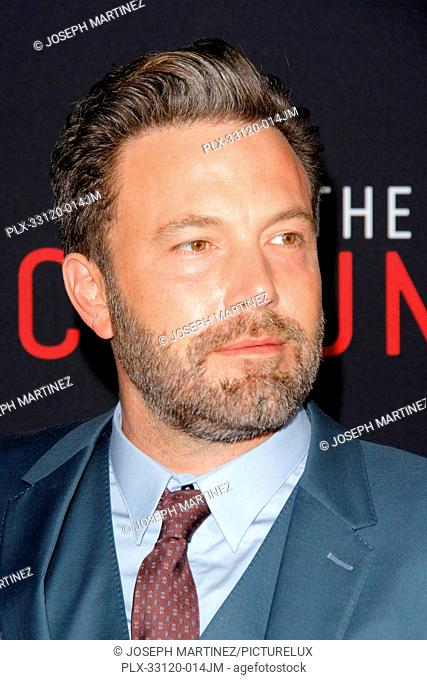 Ben Affleck at the World Premiere of Warner Bros. Pictures' The Accountant held at the TCL Chinese Theater in Hollywood, CA, October 10, 2016