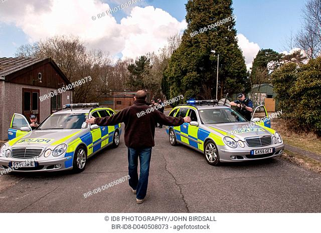 Police armed response team, Sussex Police UK