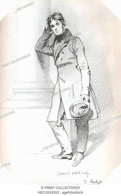 'Portrait of Thomas Carlyle, historian and philosopher', c1830. Artist: Daniel Maclise