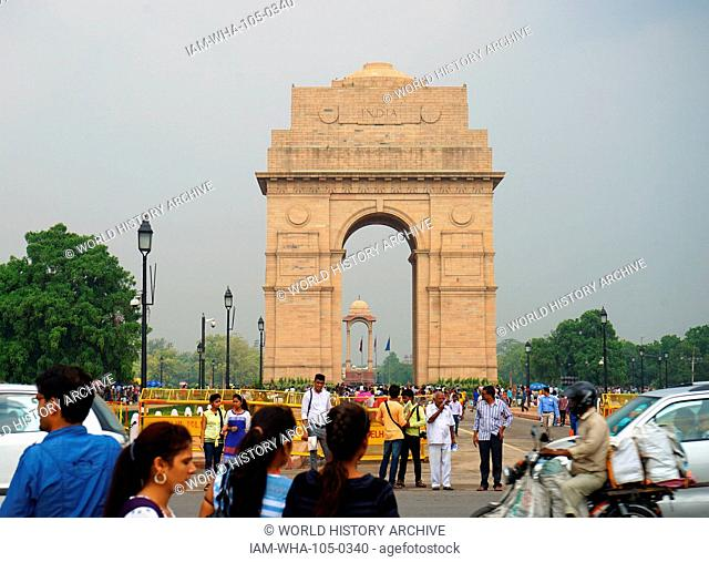 The India Gate, (originally called the All India War Memorial), is a war memorial located astride the Rajpath, on the eastern edge of the 'ceremonial axis' of...