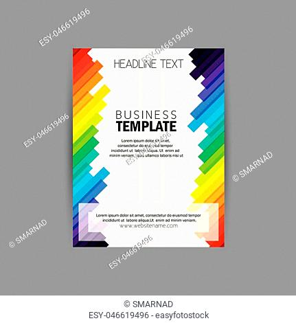 vector business brochure flyer design layout template vector with diagonal lines. abstract, colorful and modern design vector template for advertising