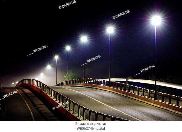 Public lighting, Lunéville, Meurthe-et-Moselle. Lorraine, France