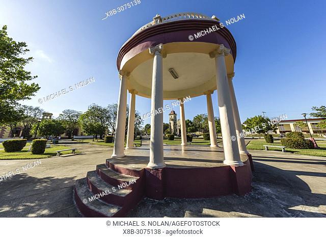 City park including this rotunda in Nueva Gerona on Isla de la Juventud, Cuba
