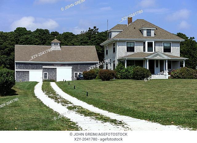 Cape Cod style barn and house, Orleans, Cape Cod, Massachusetts,, USA