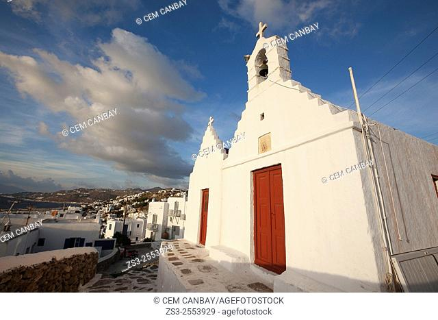 Chapel in town center, Mykonos, Cyclades Islands, Greek Islands, Greece, Europe