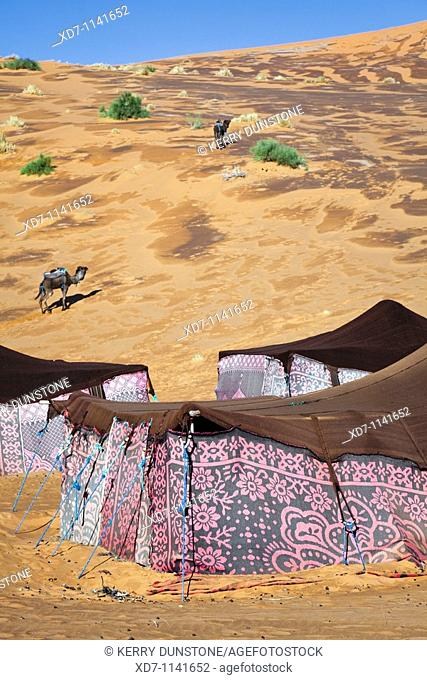 Morocco Erfoud Erg Chebbi with Berber camp
