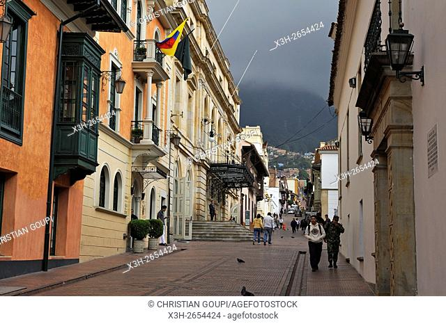 Calle 10, La Candelaria district, Bogota, Colombia, South America