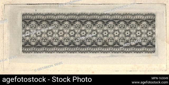 Banknote motif: band of lace-like lathe work ornament. Artist: Associated with Cyrus Durand (American, 1787-1868); Printer: Printed by A. B. & C