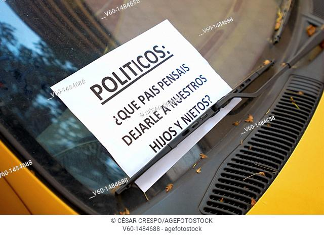 -Movement 15M- Indignants Movement, Barcelona (Spain)