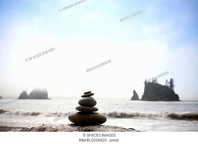 Pile of Rocks on Beach, Olympic National Park, Washington