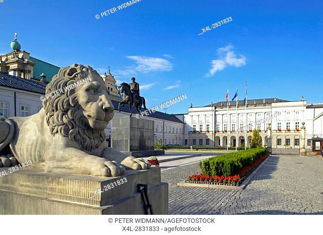 Presidential Palace, Radziwill Palais in Warsaw, Poland, Europe