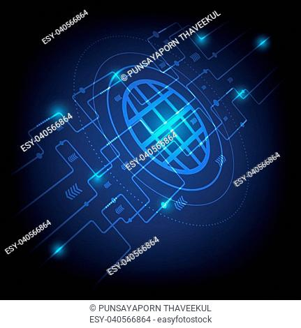 Hi-tech digital technology concept, stock vector