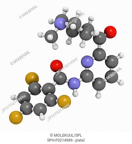 Lasmiditan migraine drug molecule