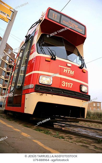 Tranvía. Países Bajos, Holanda, Amsterdam, Scheveningen, La Haya