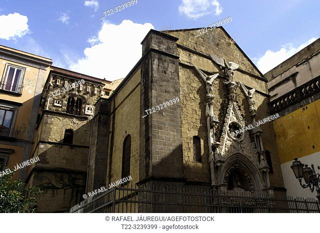 Naples (Italy). Exterior of the church of San Giorgio Maggiore in the city of Naples