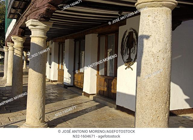 Plaza mayor (Main Square), Almagro, Ciudad Real province, Route of Don Quixote, Castilla-La Mancha, Spain, Europe