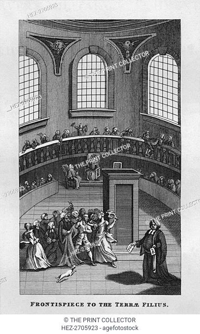 'Frontispiece to the Terrae Filius', 1808, (1827). Creator: Thomas Cook