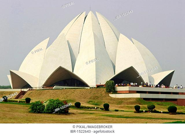 Bahá'í House of Worship, Lotus Temple, New Delhi, India, Asia