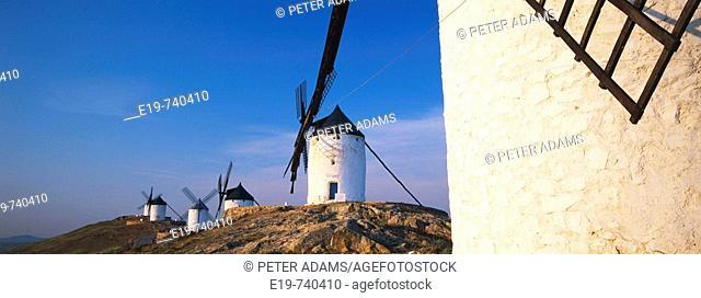 Windmill. Consuegra. Toledo province. La Mancha. Spain