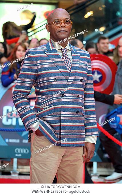 Captain America: Civil War UK premiere held at Westfield - Arrivals Featuring: Samuel L. Jackson Where: London, United Kingdom When: 26 Apr 2016 Credit: Lia...