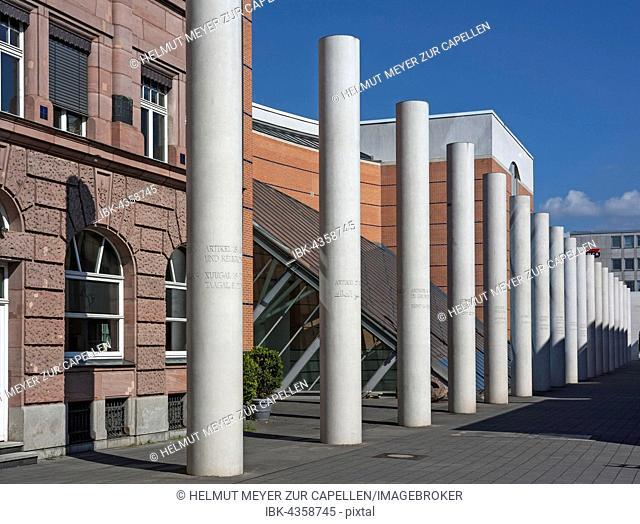 The Way of Human Rights, artist Dani Karavan, Kartäusergasse, Nuremberg, Middle Franconia, Bavaria, Germany