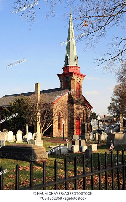 St James Episcopal Church,founded 1712- Bristol,Bucks County, Pennsylvania,USA,North America
