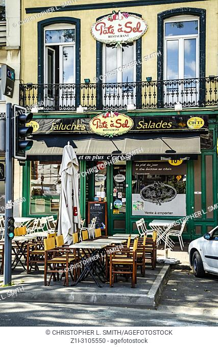 Le Pate a Sal cafe at the junction of Bvd Victor Hugo in Lille France