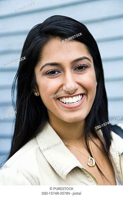 Portrait of a happy woman smiling
