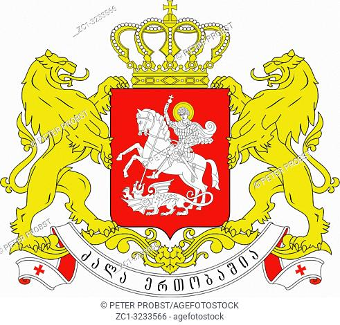 National coat of arms of Georgia