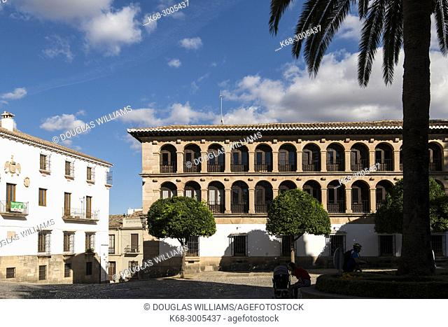 The town hall in the Plaza Duquesa de Parcent, Ronda, Malaga province, Spain