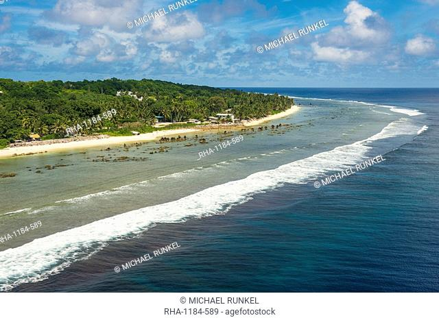 Aerial of the country of Nauru, South Pacific, Pacific