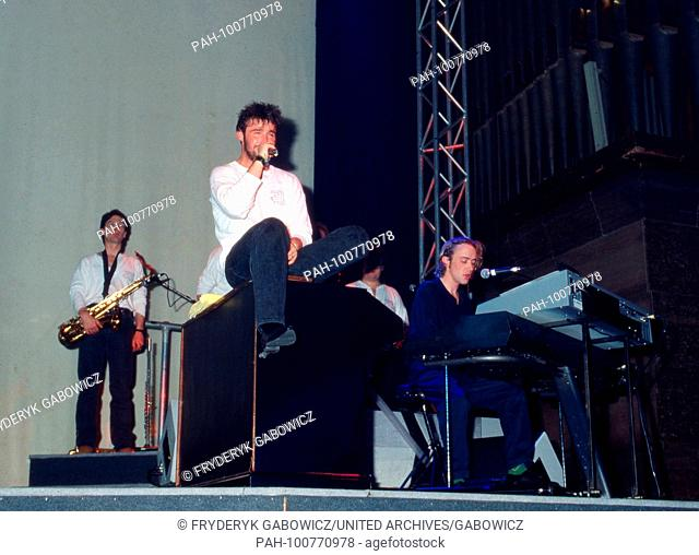 """""""""""Wet Wet Wet"""", britische Popband, live in München, Deutschland 1990. British pop band """"Wet Wet Wet"""" performing at Munich, Germany 1990"