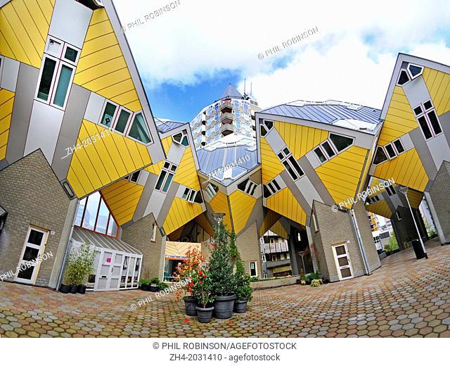 Rotterdam, Netherlands. Blaakse Bos housing project (Piet Blom 1978-84) Cube houses / Kijk-Kubus