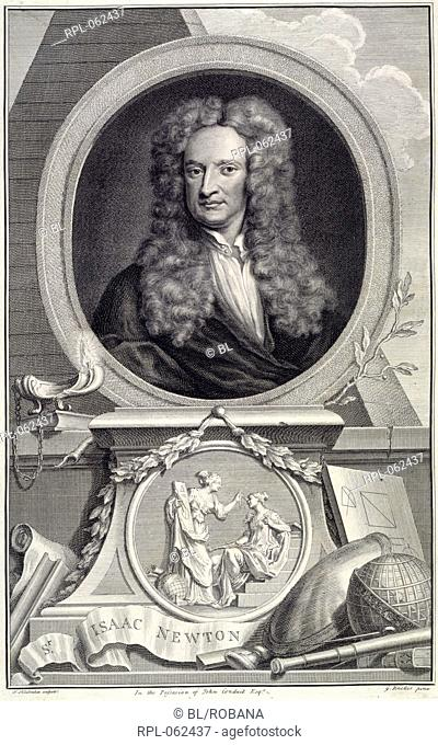 Sir Isaac Newton Author Thomas Birch, Illustrated by Houbraken and Vertue