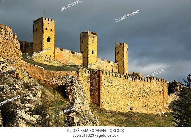 Castle ruins of Molina de Aragon. Guadalajara. Castilla la Mancha. Spain. Europe