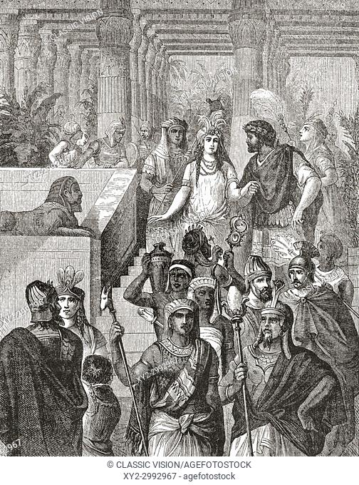 Antony and Cleopatra in Egypt. Cleopatra VII Philopator, 69 - 30 BC, aka Cleopatra. Last active ruler of the Ptolemaic Kingdom of Egypt