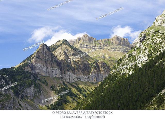 Rioseta Mountains in Pyrenees, Canfranc Valley, Aragon, Huesca, Spain